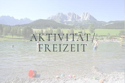 Menüpunkt Aktivität/Freizeit